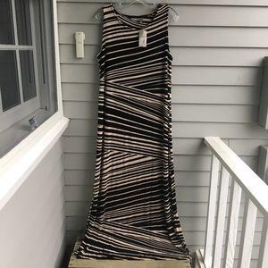 CHICO'S Mixed Stripe Maxi Dress XL (3) NWT